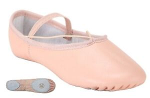 Pink Ballet Dance Leather Shoes Split Sole Children's and Adult's Sizes