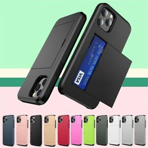 For iPhone 12 Mini Pro Max Shockproof Case Cover With Wallet Card Holder