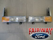 02 thru 04 F250 F350 & Excursion OEM Genuine Ford Park Lamp Light CLEAR - PAIR
