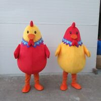 Chicken Mascot Costume Suit Cosplay Party Game Dress Outfit Halloween Adult 2019