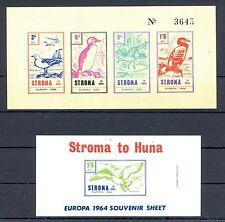 GB LOCAL STROMA    2 x Bl    EUROPA 1964   **  MNH VF