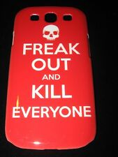 Freak Out Skull Hard Cover Case for Samsung S3 Freak Out and Kill Everyone Red