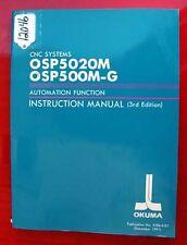 Okuma Automatic Function Instruction Manual: 3286-E-R1 (Inv.12046)