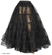 Black Crinoline 4 Victorian Civil War Dress Size S/M