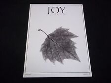 2008 AUTUMN JOY QUARTERLY MAGAZINE - FIVE LEAVES LEFT - FASHION ISSUE#2 - D 1300