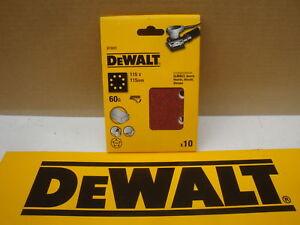 DEWALT DT3021 10 X  60GRIT  115MM PALM SANDER SANDING SHEETS D26441