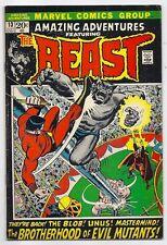 (1972) AMAZING ADVENTURES #13 BEAST Vs BROTHERHOOD OF EVIL MUTANTS! 4.5 / VG+
