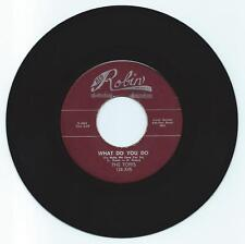 R & B 45 THE TOPPS WHAT DO YOU DO ON RED ROBIN  VG+  REPRO