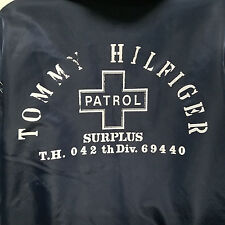 Tommy Hilfiger Patrol Fleece Lined Windbreaker Jacket Rain Full Zip Hood Large