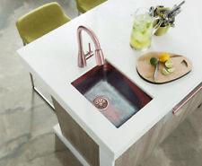 "Copper Rectangle Bar/ Prep/ Veggie/ Kitchen Sink 17""x12"""