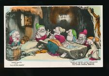 WALT DISNEY Snow White Grumpy Dwarfs c1930s Valentine RP PPC no number early