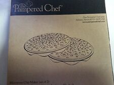 Pampered Chef Microwave Chip Maker Set of 2 1241 NEW