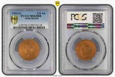 1941(c) India British 1/4 Anna PCGS MS63RB (Red Brown) Picturesque Coin