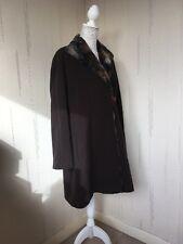 Windsmoor Brown Winter Coat With Fur Collar Size 12