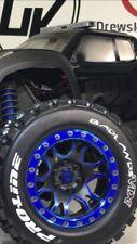 PROLINE PRO LOC CHROME BLUE WHEEL SKINS VINYL DECAL TRAXXAS X-MAXX BADLANDS