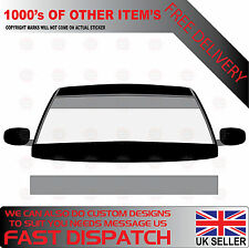 GLOSS SILVER WINDSCREEN SUNSTRIP 2000mm x 190mm VAN DECALS GRAPHICS STICKERS