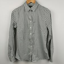 ~ Banana Republic ~ Women's ~ White Patterned Shirt ~ Non-Iron ~ Fitted ~ 8 ~
