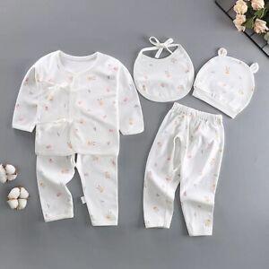 Baby Girl Gift 5 Piece Set Pink Bear Bib Bodysuit Hat 0-3 Months Newborn