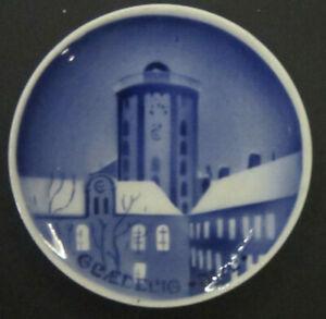 Royal Copenhagen Aluminia Christmas plaquette With Round Tower Copenhagenl 8 cm