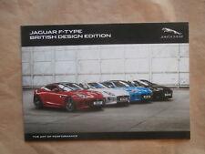 Jaguar F-Type British Design Edition 3.0 V6 +AWD Katalog Brochure Januar 2016