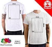 T-Shirt personalizzata uomo Maglia Bianca cotone 100% maglietta Personalizzabile