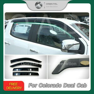 Injection Weathershields Weather Shield  fits Colorado RG Dual Cab 12+ 4pcs S