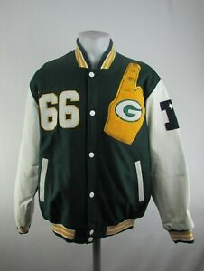 Green Bay Packers NFL Men's Number One in '66 Embroidered Letterman Jacket