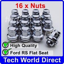 16x ALLOY WHEEL NUTS RS 2000 FORD ESCORT MK2 M12X1.5 CHROME LUG BOLT STUD [AC40]