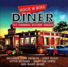 ROCK 'N' ROLL DINER - 40 ORIGINAL ROCKIN' GREATS (NEW SEALED 2CD) VARIOUS ARTIST