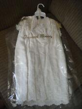 Baptism Christening Ivory Embroidered Phyllis Babywear Dress & Coverup w Bonnet
