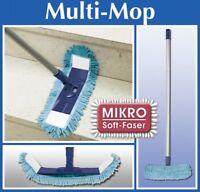 WENKO Chenille Microfaser Flexibler Mop | Wischmop Set | Bodenwischer Mikrofaser