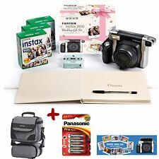 Bundle Fuji Instax 300 INSTANT CAMERA WEDDING KIT + 60 Pellicole + Custodia + Batterie