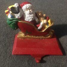Vintage Windsor Collection Santa Stocking Holder Hanger EUC