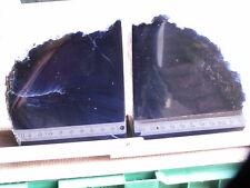 1 Paar große Buchstützen Achat Bergkristall, Brasilien (ST709-8)