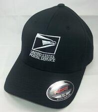 Usps Flexfit Embroidered Flexfit Baseball Hat Yupoong Black w/ White Emb / Usps1