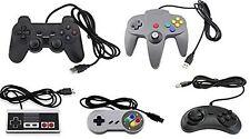 Bundle USB Controllers (5-Pack) N64 PS2 Sega Nintendo NES Gamepads