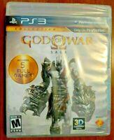 GOD OF WAR SAGA PS3 US ENGLISH NEW SEALED REGION FREE PAL & NTSC COMPATIBLE