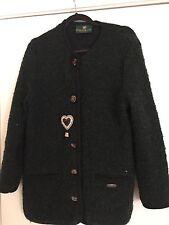 Giesswein Boucle Sweater Jacket W/ Heart Appliqué Austria Size US 8