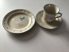 """More details for brickoven stoneware aunt rhody mother  goose 7.5"""" tea plate & cup & saucer"""