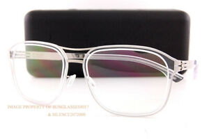 Brand New ic! berlin Eyeglass Frames Pablo L. Chrome-Crystal-Clear For Men Women