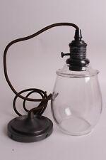 Pottery Barn Custom cord pendant & petite glass shade, nickel bronze or brass