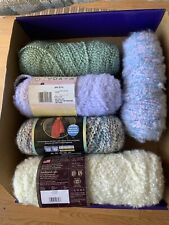 Discontinued Lion Brand Homespun & Red Heart Baby Clouds Yarn! LOT of 5!
