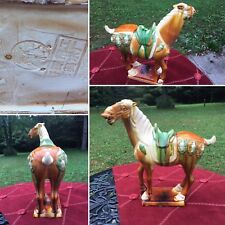 Ming Dynasty Design Heavy Chinese Asian Spirit Horse Porcelain Glaze Vintage Old