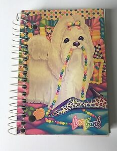 "Vintage Lisa Frank Maltese Dog Big Little Notebook 5.75"" x 4"" Sheets #0423 USA"