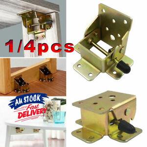 4Pcs Self Lock Brackets Fittings Folding Table Leg Foldable Hinge DIY  Table Leg