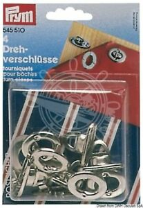 Prym Pack of 4 Stainless Steel Fasteners for Bimini