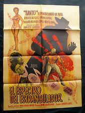 """""""SANTO CONTRA EL ESPECTRO DEL ESTRANGULADOR"""" HORROR MEXICAN MOVIE POSTER 1965"""