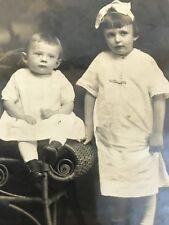 RPPC 1904-1918 Boy Girl Chadderton  Studio Greensburg PA AZO