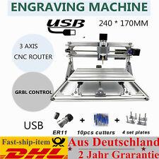 DIY CNC Routeur Kit 3 Axes USB Fraiseuse Graveur Machine PCB Bois Metal Engraver