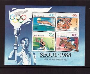 New Zealand 1988 Olympic Games sheet MNH mint stamps